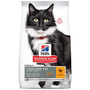 Hills SP Feline Mature Sterilised Chicken 3 kg