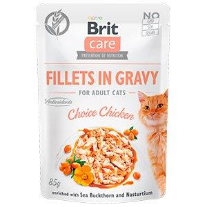 Brit Care Cat Fillets in Gravy Choise Chicken 85 g