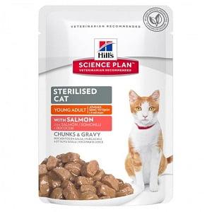 Hills SP Feline Young Adult Sterilised Salmon 85 g (plic)