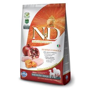 ND Dog GF Pumpkin Chicken and Pomegranate Adult Medium and Maxi 12 kg