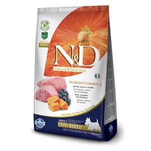 ND Dog GF Pumpkin Lamb and Blueberry Adult Mini 7 kg