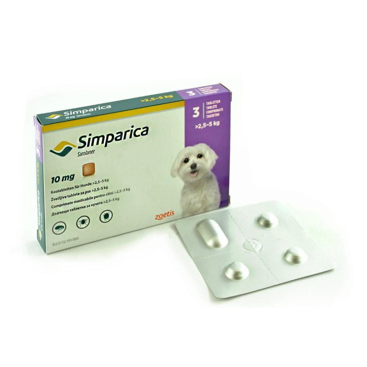 SIMPARICA 10 MG(2,5-5 KG)* 3 TAB