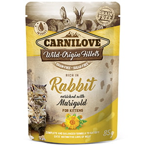 Carnilove Cat Pouch Rich in Rabbit With Marigold 85 g