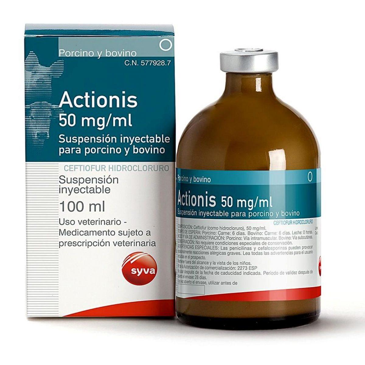 ACTIONIS 100 ML(ceftiofur)