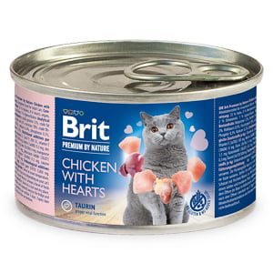 Brit Premium By Nature Cat Chicken With Hearts 200 g