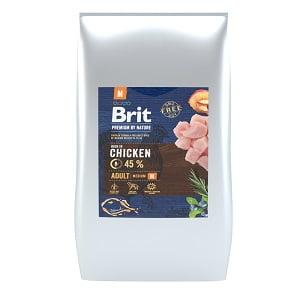 Brit Premium by Nature Adult M 15 kg - silver