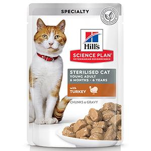 Hills SP Feline Young Adult Sterilised Turkey 85 g (plic)