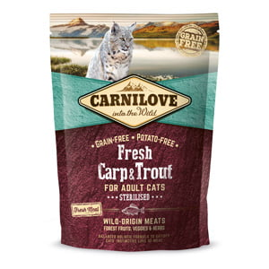 Carnilove Fresh Carp and Trout Sterilised for Adult Cats 400 g