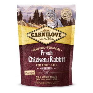 Carnilove Fresh Chicken and Rabbit Gourmand for Adult Cats 400 g