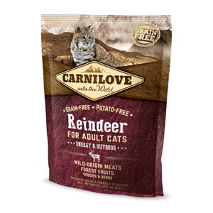 Carnilove Reindeer for Adult Cats - Energy and Outdoor 400 g