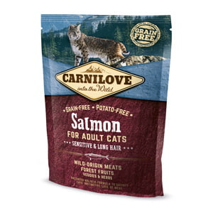 Carnilove Salmon for Adult Cats - Sensitive and Long Hair 400 g
