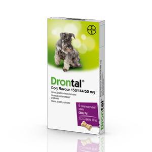 Drontal Dog Flavour 150/144/50 mg x 6 tab.