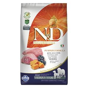 ND Dog GF Pumpkin Lamb and Blueberry Adult Medium Maxi 2.5 kg