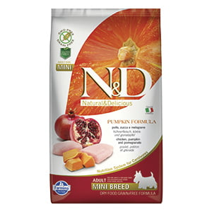 ND Dog GF Pumpkin Chicken and Pomegranate Adult Mini 2.5 kg