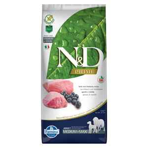 ND Prime Dog Lamb and Blueberry Adult Medium and Maxi 12 kg