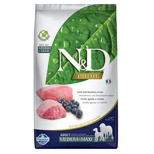 ND Prime Dog Lamb and Blueberry Adult Medium and Maxi 2.5 kg