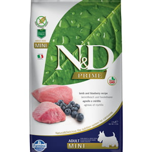 ND Prime Dog Lamb and Blueberry Adult Mini 7 kg