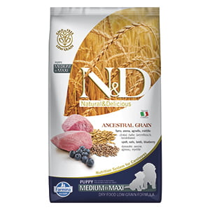 ND Dog LG Lamb and Blueberry Puppy Medium  and  Maxi 2.5 kg