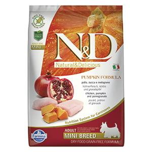 ND Dog GF Pumpkin Chicken and Pomegranate Adult Mini 7 kg