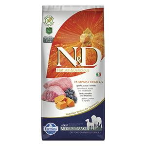 ND Dog GF Pumpkin Lamb and Blueberry Adult Medium and Maxi 12 kg