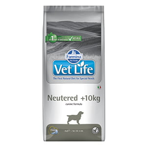 Vet Life Natural Diet Dog Neutered plus 10 kg 2 kg