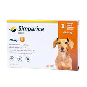 Simparica 20 mg 5-10 kg x 3 tablete