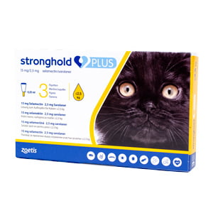 Stronghold Plus 15 mg 0.25 ml sub 2.5 kg x 3 pipete