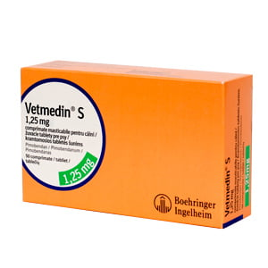 Vetmedin 1.25 mg x 50 tbl masticabile