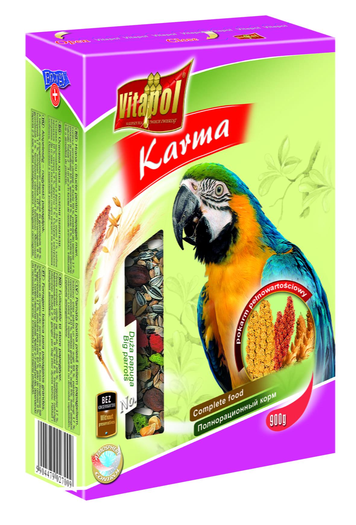 Hrana completa pentru papagali mari 900 g