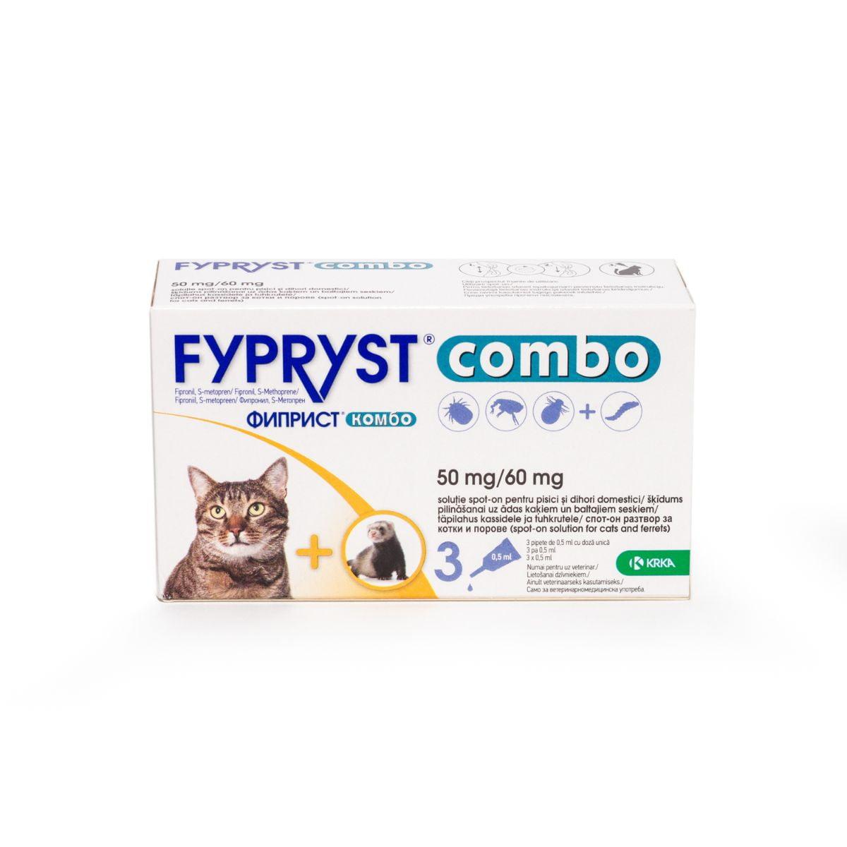 Fypryst Combo Cat  x 3 pip