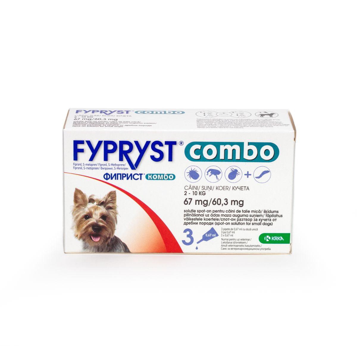 Fypryst Combo Dog S (2-10kg) x 3 pip