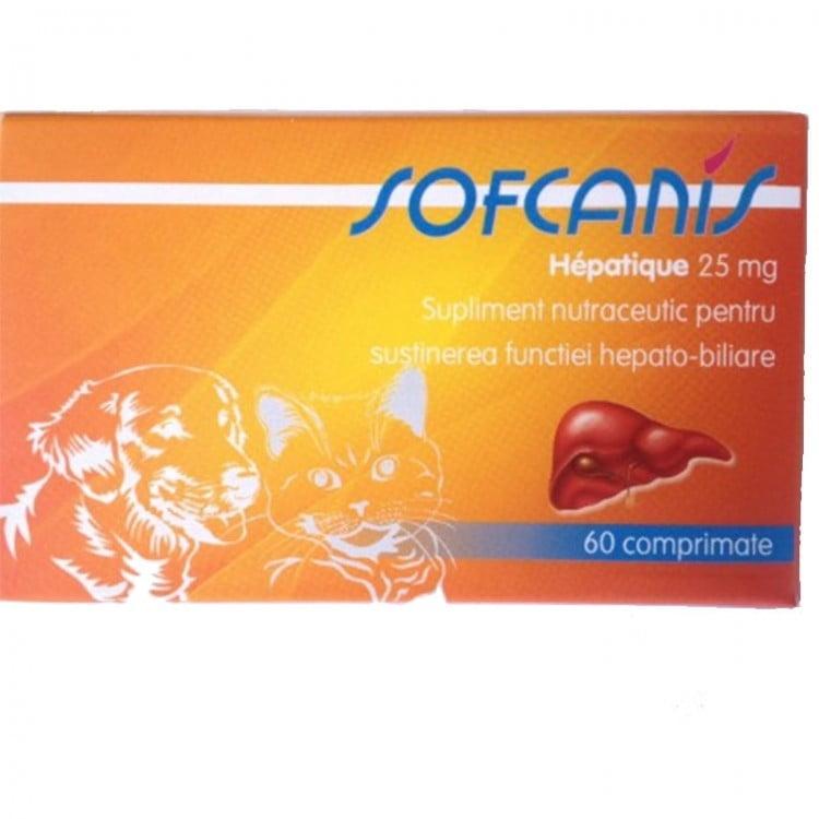 SOFCANIS Caine / Pisica  Hepatique 25 mg  60 comprimate