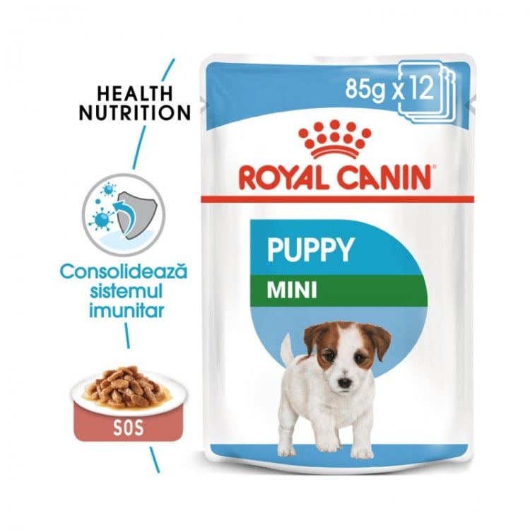 Royal Canin Wet Mini Puppy, 12 plicuri x 85 g