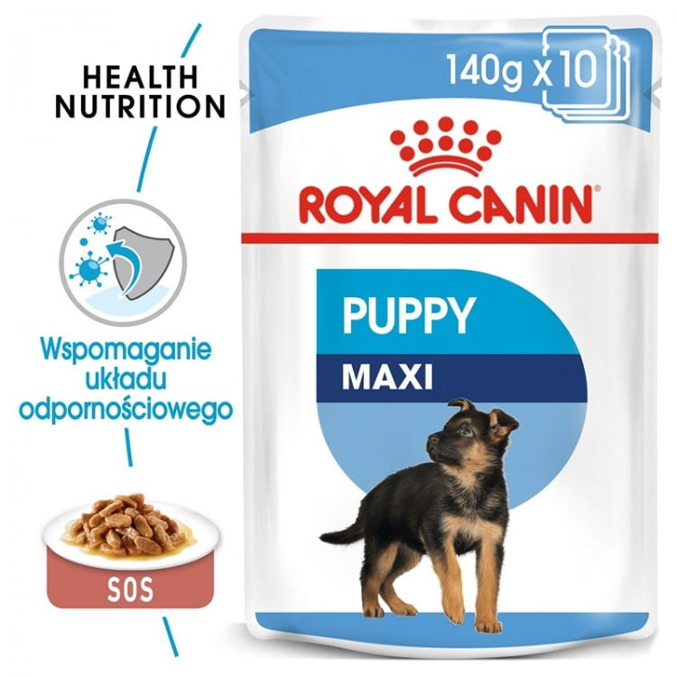 Royal Canin Wet Maxi Puppy, 10 plicuri x 140 g